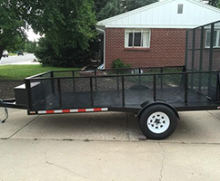 Side View of Trailer Anglim's Western Metal Works—Certified Welding, Quality Results